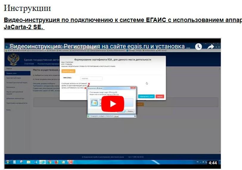 Раздел «Инструкции» на официальном сайте системы
